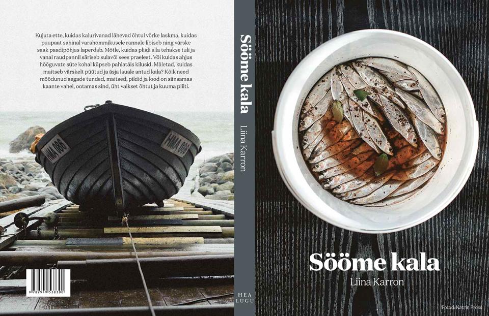 "ALT=""sööme kala kokaraamat, kaas, foto katrin press photography, cookbook, cover, dark, baltic sea fish"""