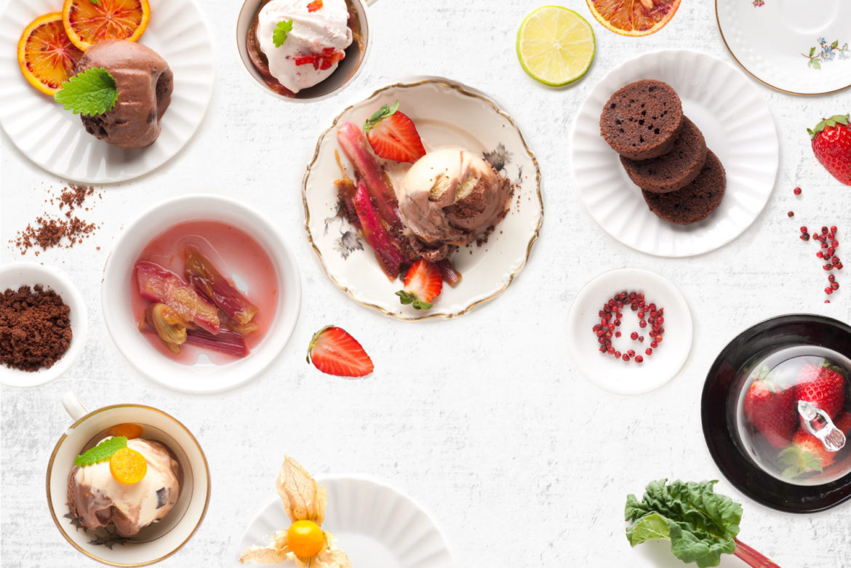 "ALT=""jäätis, ice cream, table, overhead, white, food photography, katrin press"""